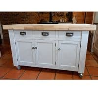 Corsair Butchers Block Kitchen Island oak top with drawers and cupboards